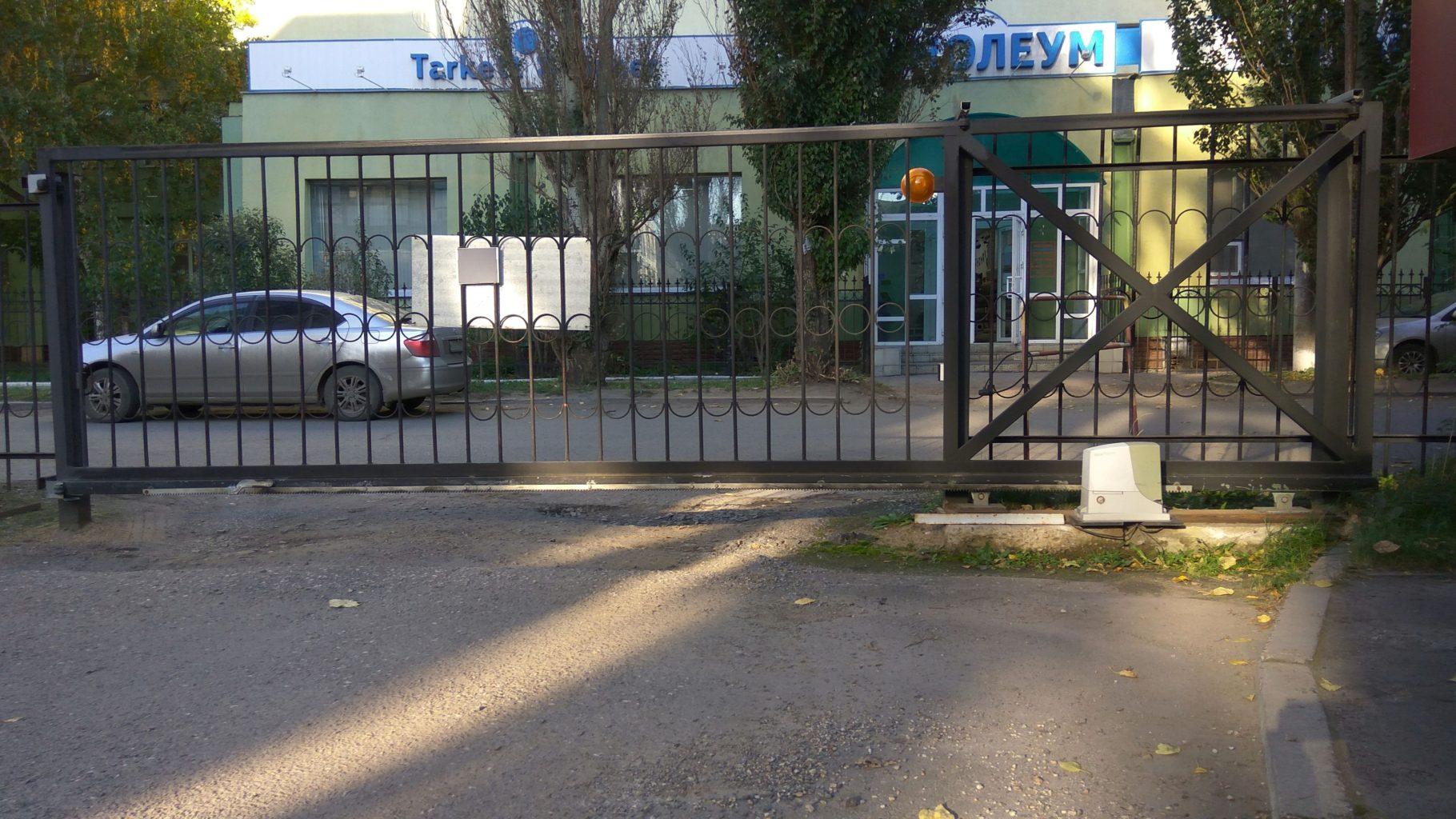 Откатные ворота с приводом Nice в Омске